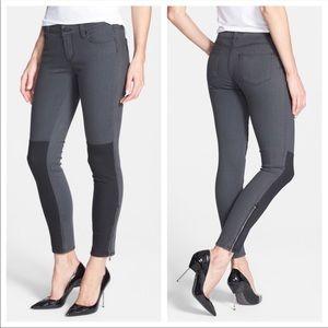 Paige Cara Ankle Zip Grey & Black Skinny Jeans 24